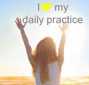 I heart my daily practice sun