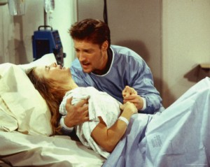Something dramatic happens to someone on The Bold And The Beautiful. Is she giving birth or dying?